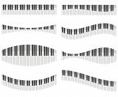 Piano Keys For Different Forms Of Design Vector Illustration