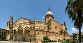 The Cathedral Of Palermo Is An Architectural Complex In Palermo, Sicily, Southern Italy. Panorama