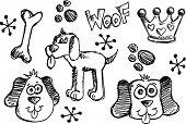 Doodle Sketch Puppy Dog pet set