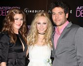 LOS ANGELES - AUG 19:  Kathryn Hahn, Juno Temple, Josh Radnor at the