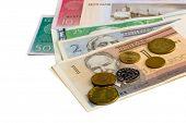 Money of the Estonian republic on white