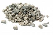 picture of pale  - Pale of crushed stone isolated on white - JPG