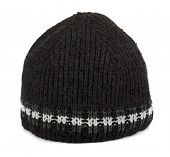 Black winter  tuque isolated on white