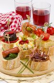 ������, ������: Spanish Cuisine Tapas Tray Of Montaditos