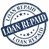 Loan Repaid Blue Stamp