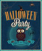 Halloween Party Poster. Vektor-Illustration.