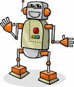 Cartoon Robot Or Droid Illustration
