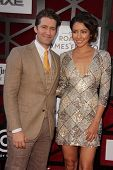 LOS ANGELES - AUG 25:  Matthew Morrison, Renee Puente at the Comedy Central Roast Of James Franco at