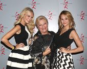 LOS ANGELES - AUG 24:  Melissa Ordway, Beth Maitland, Hunter King at the Young & Restless Fan Club Dinner at the Universal Sheraton Hotel on August 24, 2013 in Los Angeles, CA