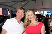 LOS ANGELES - AUG 23:  Winsor Harmon, Jennifer Gareis at the Bold and Beautiful Fan Meet and Greet a