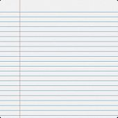 image of lined-paper  - Blank notebook filler paper background - JPG