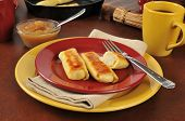 Potato Blintzes With Apple Sauce
