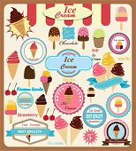 Collection of Ice Cream Design Elements.Vector Illustration
