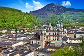 stock photo of mozart  - beautiful Salzburg - JPG