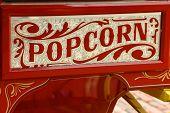 Colorful popcorn vendor's cart