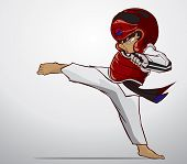 foto of taekwondo  - Create cartoon taekwondo martial art - JPG