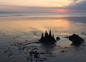 Sandcastle at Sunset