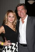 LOS ANGELES - AUG 24:  Hunter King, Peter Bergman at the Young & Restless Fan Club Dinner at the Universal Sheraton Hotel on August 24, 2013 in Los Angeles, CA