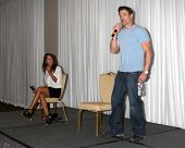 LOS ANGELES - AUG 25:  Christel Khalil, Daniel Goddard at the Goddard and Khalil Fan Event at the Un