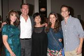 LOS ANGELES - AUG 24:  Kate Linder, Peter Bergman, Jill Farren Phelps, Melissa Claire Egan,Greg Rikaart at the YnR Fan Club Dinner at the Universal Sheraton Hotel on August 24, 2013 in Los Angeles, CA