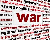 War armed conflict message