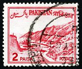Postage Stamp Pakistan 1960 Khyber Pass, Mountain Pass