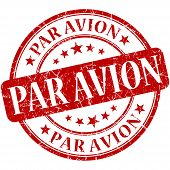 Par Avion Red Stamp