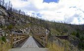 stock photo of trestle bridge  - Historic Trestle Bridge - JPG