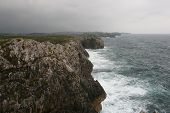Cliffs on the Bay of Biscay. Llanes, Asturias, Spain