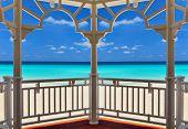 view from an arbor to the Atlantic Ocean, Varadero, Cuba