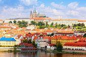Czech republic Prague look on Gradchana and the Vltava River