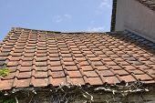 Old Terracotta Tiled Roof