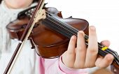 picture of wench  - Prodigy playing the violin in the school of music - JPG
