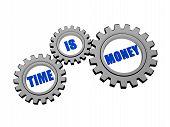 Time Is Money In Silver Grey Gears