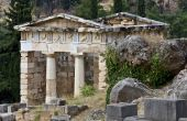 Treasure of the Athenians at Delphi in Greece