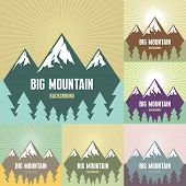 Big Mountain Illustration - Vector Background