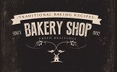 Vintage Retro Bakery  Label