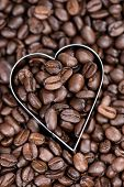Coffee Background (with Hearts)