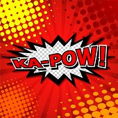 Ka-pow! Comic Speech Bubble.