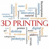 3D Printing Word Cloud Concept