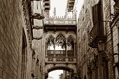 Gothic quarter in Barcelona Spain,