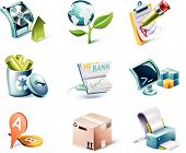 Vector cartoon style icon set. Part 13