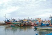 Old Fishing Port With Lot Of Boats