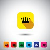 Flat Design Vector Icon - Royal Crown  Signs & Symbols