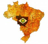 Mato Grosso State On Map Of Brazil
