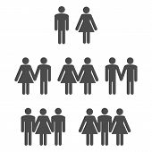 stock photo of gay symbol  - Gender symbol icons 2 - JPG
