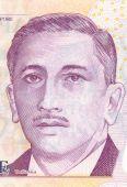 Portrait Of The First President Of Singapore Yusof Bin Ishak