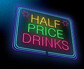 Cheap Alcohol Concept.