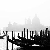 Romantic Venice, Italy In B&w.