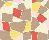 Stone pavement of various colors